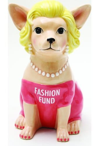 Chihuahua In Pink - Fashion Fund Ceramic Bank