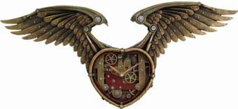 Winged Heart Clock