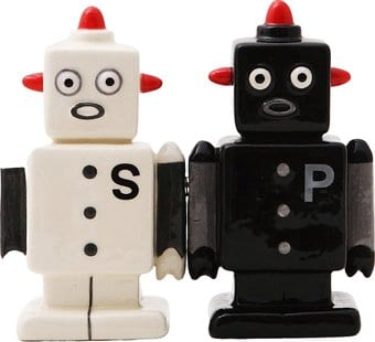 Robots salt and pepper shakers pacific trading Salt and pepper robots