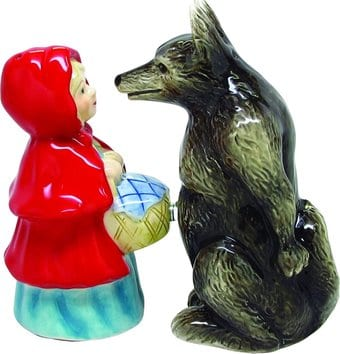 Red Riding Hood & Wolf - Salt & Pepper Shakers