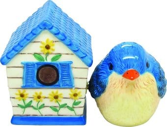 Bird and Birdhouse - Salt and Pepper Shakers