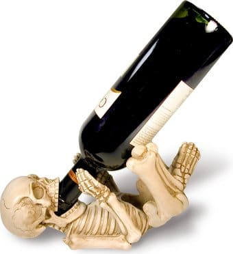 Skeleton Guzzler - Figurine Wine Bottle Holder