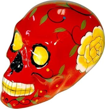 Skull - Red Figurine