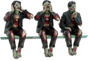 Zombies - Speak, See, Hear No Evil Shelf Sitters