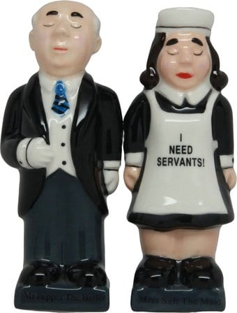 Butler & Maid - Salt and Pepper Shakers