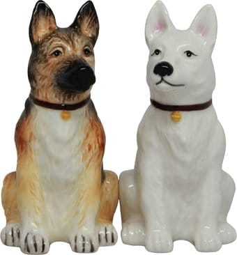German Shepherd - Salt & Pepper Shakers