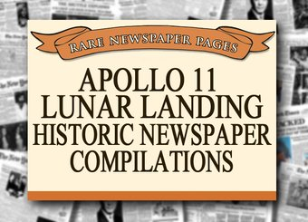 Apollo 11 Lunar Landing - Historic Newspaper