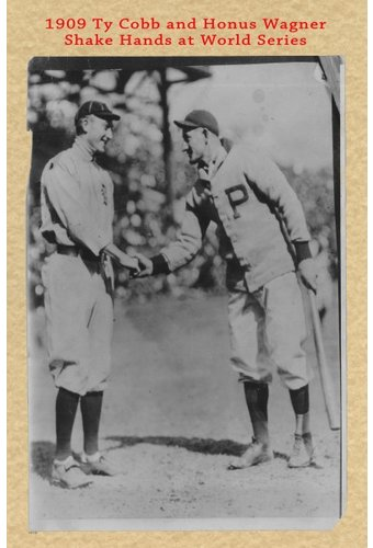 Baseball - Ty Cobb - 1909 Historic Document: Ty
