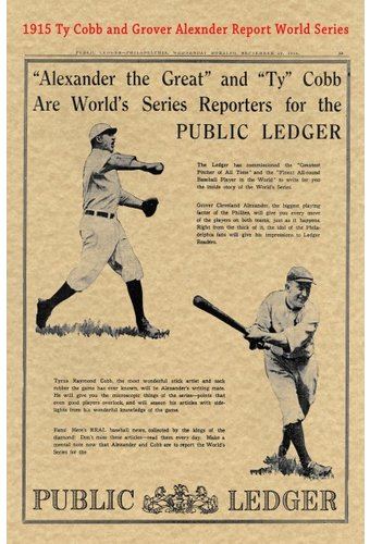 Baseball - Ty Cobb - 1915 Historic Document: Ty