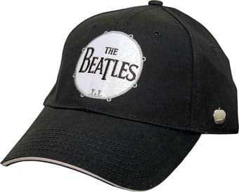 The Beatles - Drum Logo: Black Baseball Cap