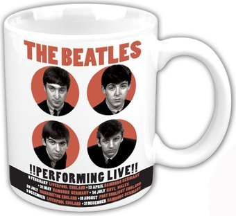 The Beatles - 1962 Performing: 12 oz. Ceramic Mug