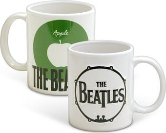 The Beatles - Drum Logo: 12 oz. Embossed Ceramic