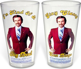 Anchorman - 2-Piece 16 oz. Pint Glass Set