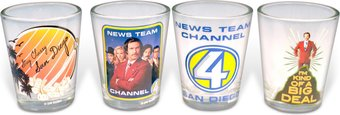Anchorman - 4-Piece Clear Shooter Glass Set