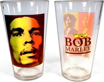 Bob Marley - 2-Piece 16 oz. Pub Glass Set