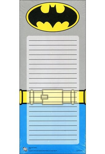 "Batman - Uniform - Magnetic To-Do List 3.5"" x 8"""