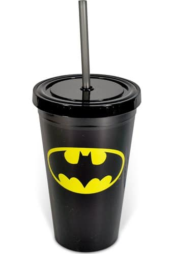 Batman - Logo - 16 oz. Plastic Cold Cup with Lid