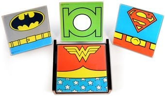 DC Comics - Characters - 4-Piece Glass Coaster