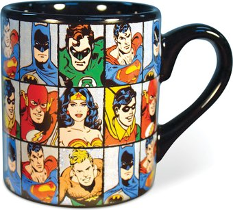 DC Comics - Characters Grid - 14 oz. Ceramic Mug