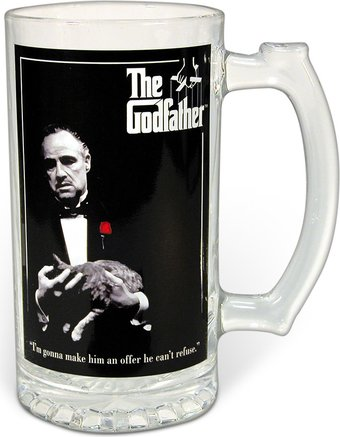 The Godfather - 25oz Glass Stein in Acetate Box