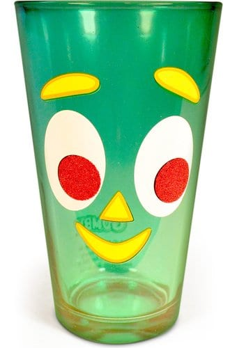 Gumby - 16 oz. Glittered Colored Pint Glass
