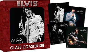 "Elvis Presley - 4-Piece Glass Coaster Set 4"" x 4"""