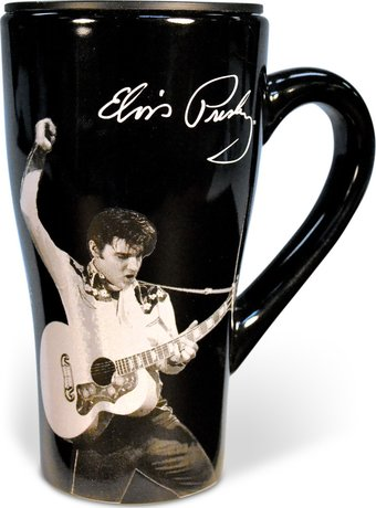 Black & White with Guitar -  18 oz. Ceramic