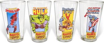 Heroes: 16 oz. Clear Pub Glass (Set of 4)