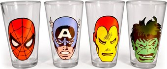 Marvel Comics - Big Face 16 oz. Clear Pub Glass