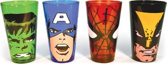 Marvel Comics - Characters 16 oz. Colored Pub