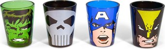 Marvel Comics - Characters Colored Shot Glass Set