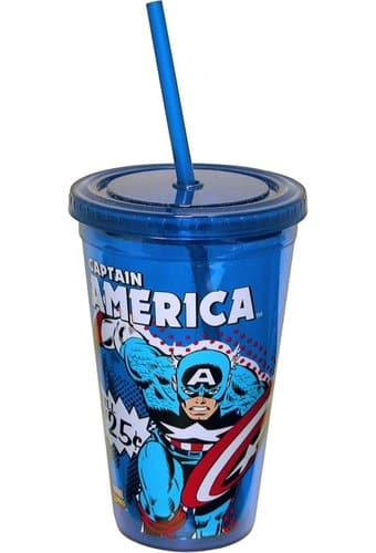 Marvel Comics - Captain America - 16 oz. Plastic