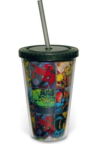 Marvel Comics - Grid: 16 oz. Plastic Cold Cup