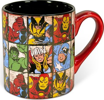 Marvel Comics - Characters Grid 14 oz. Ceramic Mug