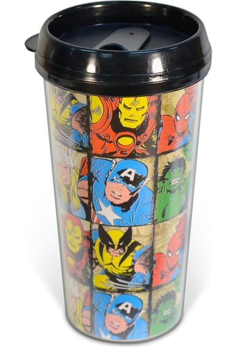 Marvel Comics - 16oz Characters Grid Plastic
