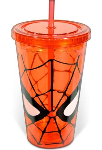 Spiderman - Eyes: 16 oz. Plastic Cup with Lid &