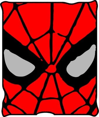 "Spiderman - Eyes: Fleece Blanket 50"" x 60"""