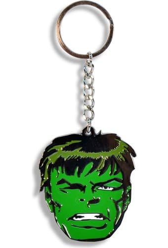 The Incredible Hulk - Face Metal Key Chain