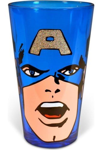 Captain America: Colored & Glitter Boxed 16 oz.