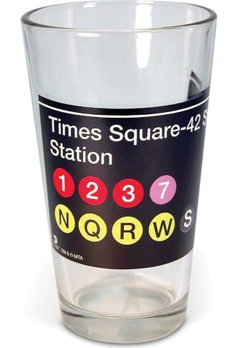 New York - Times Square Subway - 16 oz. Pint Glass