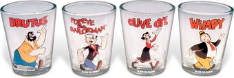Characters: 4 Piece Shot Glass Set