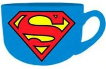 Superman - Logo - Blue 24 oz. Ceramic Soup Mug