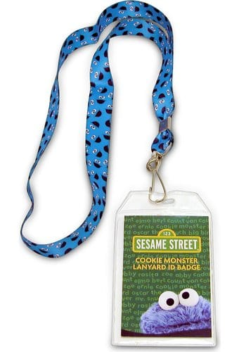 Cookie Monster Lanyard with Badge Holder