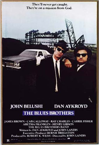 "The Blues Brothers - 13"" x 19"" Printed Wood Wall"