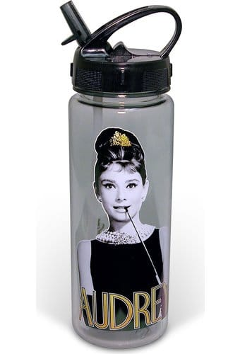 Audrey Hepburn - 20 oz. Gold Tritan Water Bottle