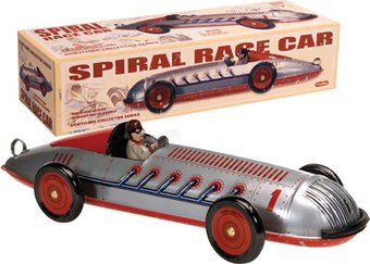 Retro Toy - Spiral Race Car - Tin Toy