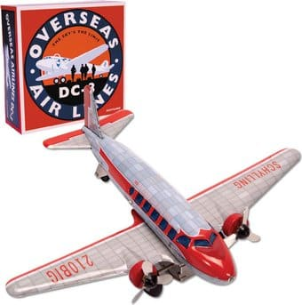 Retro Toy - DC-3 Tin Airplane - Friction Powered