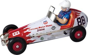 Wind-Up Sprint Racer Car - Tin Toy