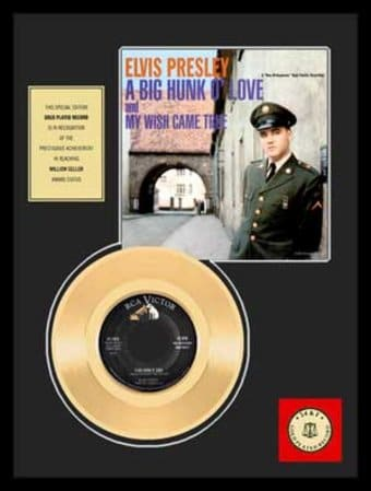 "A Big Hunk O' Love - Framed 12"" x 16"" Gold Record"