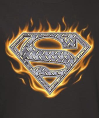 DC Comics - Superman - Steel Fire Shield - T-Shirt